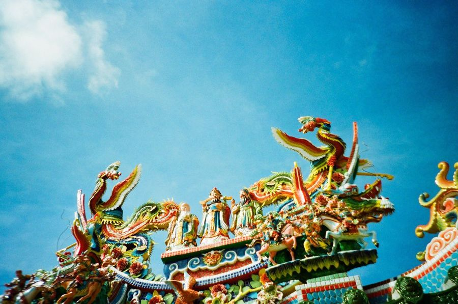 Blue Wave Film 135mm LC-A+ Crossprocess Lomography Traveling Travel Photography Ishigaki Island Okinawa Sky Blue Sky Asian  Ultimate Japan