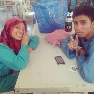 @yayahhhaaa & @airieqazham two lovebirds during Sambutanraya