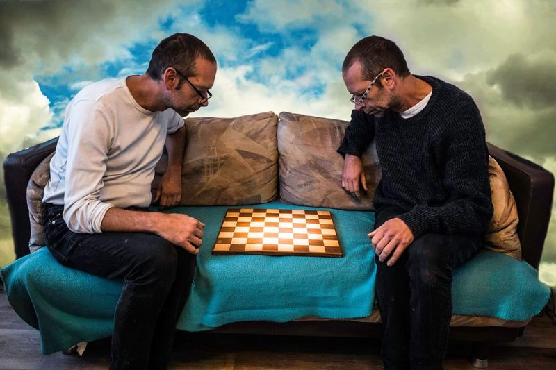 Bench Chess EyeEm Selects Adult Sitting Men Sky Two People Cloud - Sky Togetherness Males  Casual Clothing Sofa Friendship