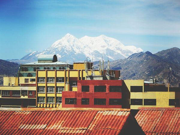 Lapaz Illimani Cityscape City Streetphotography Travel Destinations Composition Mountain View Landscape EyeEm Best Shots Mountain Mountain Range Outdoors Architecture Day No People Snowcapped Mountain #urbanana: The Urban Playground