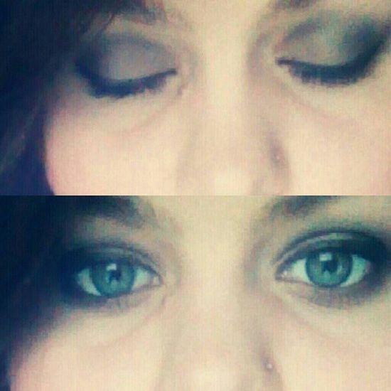 I tried a new look. Thanks to @snowhiteandhell . Me Makeup Smokeyeye Fashion blueeyes