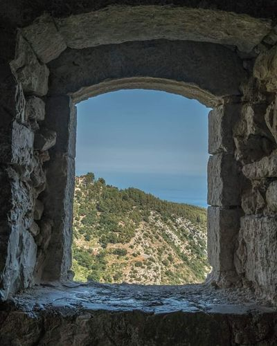vue mer depuis Eze French Riviera Eze, France Côte D'Azur Old Ruin Water Ancient History Arch Castle Sky Architecture Close-up Landscape Horizon Over Water Medieval Ruined Fort Fortress Fortified Wall Sea