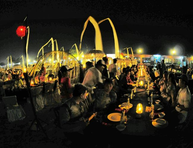 Dinner Light Night Lights Outdoor Dinner