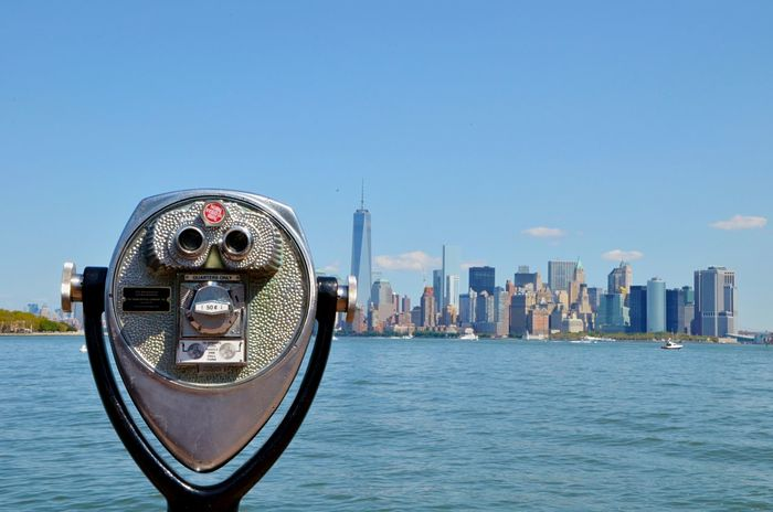 Newyork New York Newyorkcity Skyline Binoculars View Building Cityscapes Cityscape