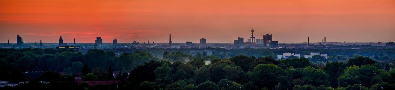 Blick auf hannover skyline