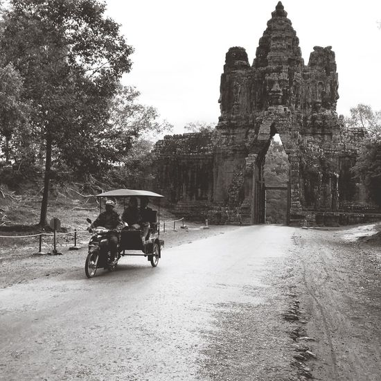 The arrival Angkor Thom Cambodia Siemreap Black And White Black & White Travel Photography