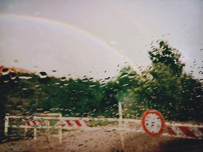 Shadows & Lights Window Car Drops Rainbow Water Wet Rain Sky No People Autumn Signals Noway