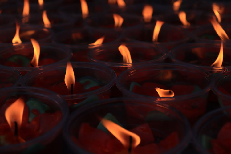 Candle flame on