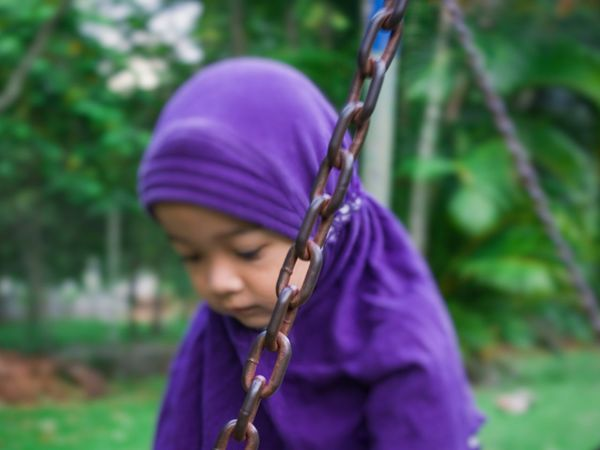 Child Children Only One Person Tree Nature People Close-up Outdoors Day Childhood Purple Focus On Foreground Adult Park - Man Made Space Sad Face Sad & Lonely Outdoor Photography Leisure Activity Banda Aceh