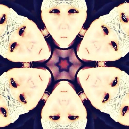 Me if I was a Kaleidoscope my head at least! It looks like an alien or something it's funny!LOL!