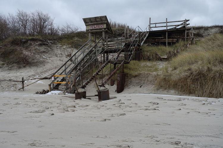 Baltic Sea In Winter Beach In Winter Cloud - Sky Day Nature No People Outdoors Sky Stairways Tree
