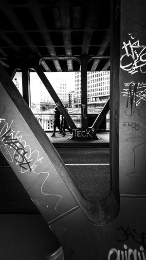 Geomecross.. B&w Street Photography Hamburg Oberhafenbrücke Bridge Taking Photos EyeEm Best Shots - Black + White Black And White People Photography Urban Geometry Monochrome Tags Streetphotography Streetphoto_bw Open Edit Light And Shadow Outdoors Eye4photography  Urban Photography Fortheloveofblackandwhite Focus On Foreground EyeEm Germany Hamburg Streetphotography Licht Und Schatten Schwarzweiß Street Photography