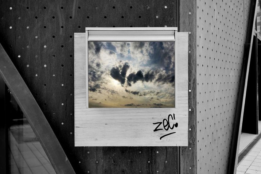Tag Graffiti Post Box  Art And Craft Creativity Sky Nature No People Day Digital Composite Sunlight Picture Frame