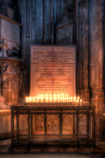 Flame HDR HDR Collection Hdr_Collection Gloucester Cathedral Gloucestershire Gloucestershire UK Hdr_captures Hdr_gallery Hdr_lovers Hdr_pics Hdrphotography High Contrast Historic Building Prayer Prayer Candles Religion Warm And Cold Light