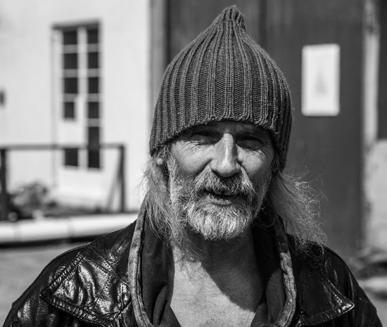 A musician/ artist friend from Scotland. Arts Culture And Entertainment Beard Front View Human Face Mature Adult Outdoors Portrait Real People Smiling