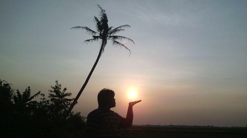 Silouette & Sky Peoplephotography Sun Set Sky