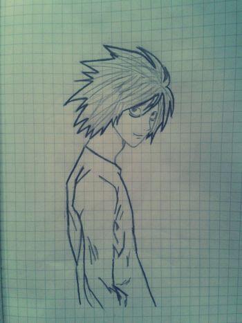 L - лучший детективMy Art <3 Death Note Drawing ✏ Drawing