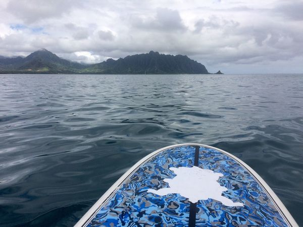 Sea Bay Cloudy Outdoors Daydreaming Ocean View Ocean Hawaii Mountain Reality Vacay Oceanside Blessed  Bigblue Kaneohe Staycation Scenics Oahu, Hawaii Watersurface StandupPaddleBoard Becomes Tranquil Scene Mountain Range Shimmering Waters The Week On EyeEm