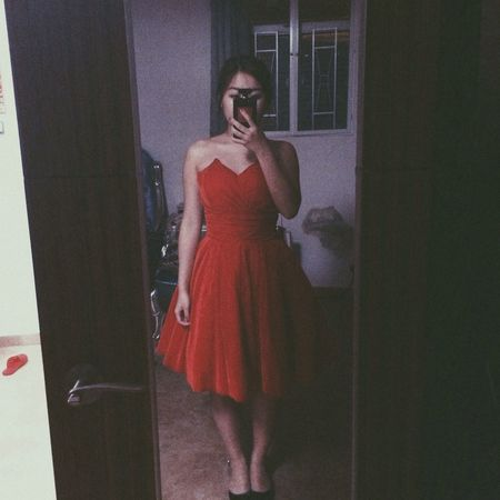 I m too fat can't put u on my dear new dress. Self Portrait That's Me Asian Girl Fashion