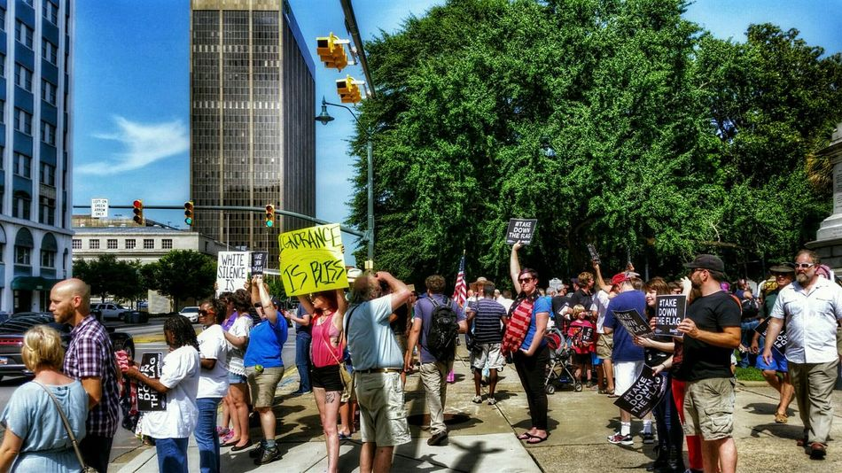 I can't think of a better, more patriotic way to spend Independence Day! Happy 4th, everybody! Streetphotography People Protest Civil Rights  Freedom Of Speech City Hdr_Collection Architecture The Photojournalist - 2015 EyeEm Awards The Changing City The Photojournalist - 2016 EyeEm Awards