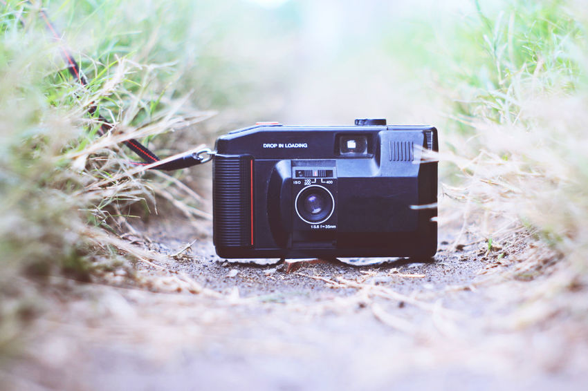 analog pocket camera Camera - Photographic Equipment Close-up Day Filmcamera No People Old-fashioned Outdoors Photography Themes Pocket Camera Retro Styled