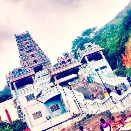 Taking Photos Temple Religion Culture India Hindu Temple God Is Great. Asian Culture Om Muruga