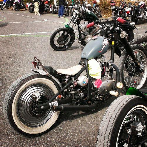 Sunday chop chicken race parking Kawasaki Tr250 Chopper Bobber