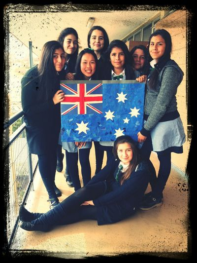 Amigas Bandera Australia English Day