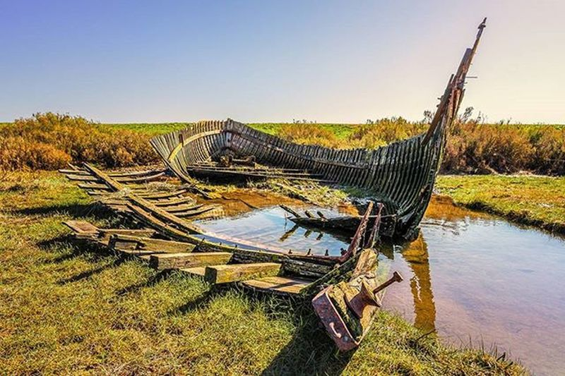 Old ruined boat