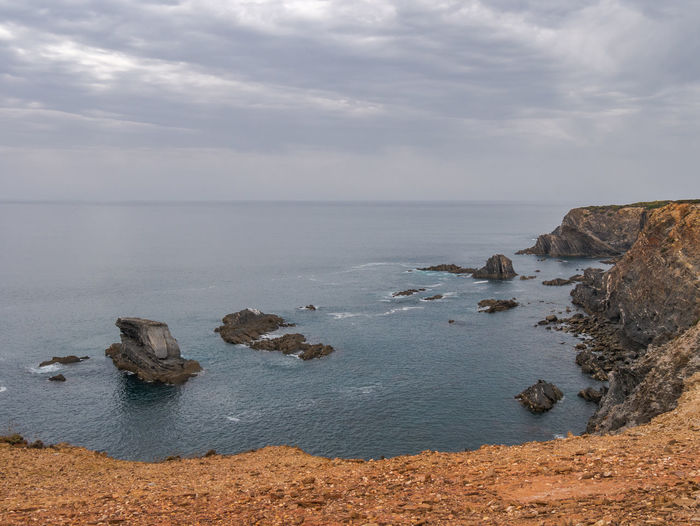 Cloud Landscape_Collection Nature Nature Photography Portugal Rock Tranquility Beauty In Nature Cavaleiro Cliff Cloud - Sky Horizon Over Water Landscape Landscape_photography Nature_collection Ocean Outdoors Photography Rock - Object Scenics Scenics - Nature Sea Sky Tranquil Scene Water