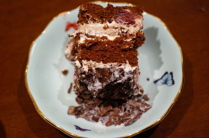 Black Forest cake 生日蛋糕 生日 Sweet Food Sweet Plate Dessert Food And Drink Food Freshness Indulgence Chocolate Serving Size Temptation