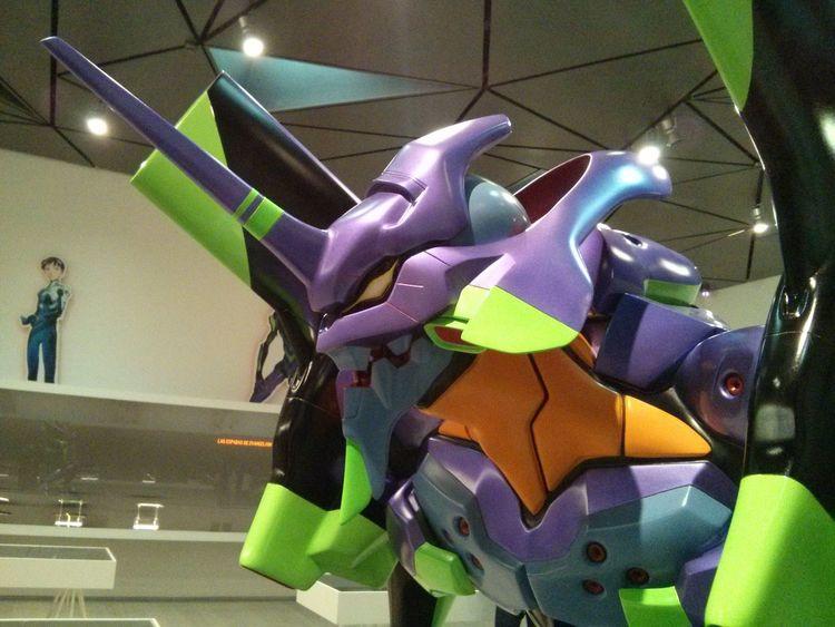 Exposición de Evangelion. Anime