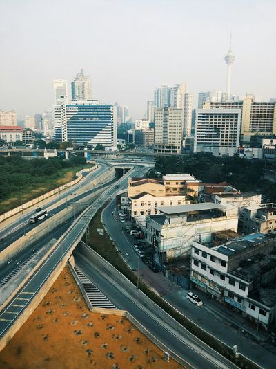 Thats the beautiful city of Kuala Lumpur. Kuala Lumpur Malaysia  Bukitbintang Kltower Horizons Greyskies FuramaHotel Outthewindow Architecture_collection Cityscapes Highrisebuilding