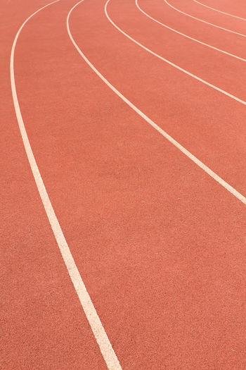 Full frame shot of empty running track