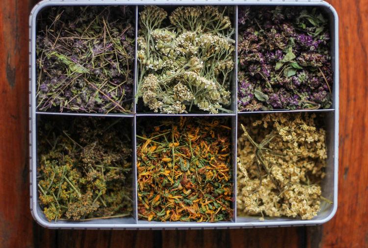 Dried herbs tea