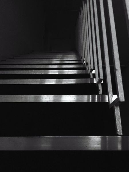 Indoors  Low Angle View Right Angle Dark Stairway Unknown Journey
