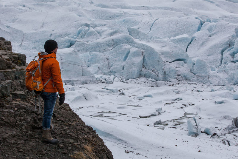 Hiking Iceland Rock Vatnajökull Adventure Beauty In Nature Cold Temperature Extreme Weather Glacier Leisure Activity Lifestyles Men Nature Snow Standing Trip Walking Warm Clothing White Color Winter Go Higher