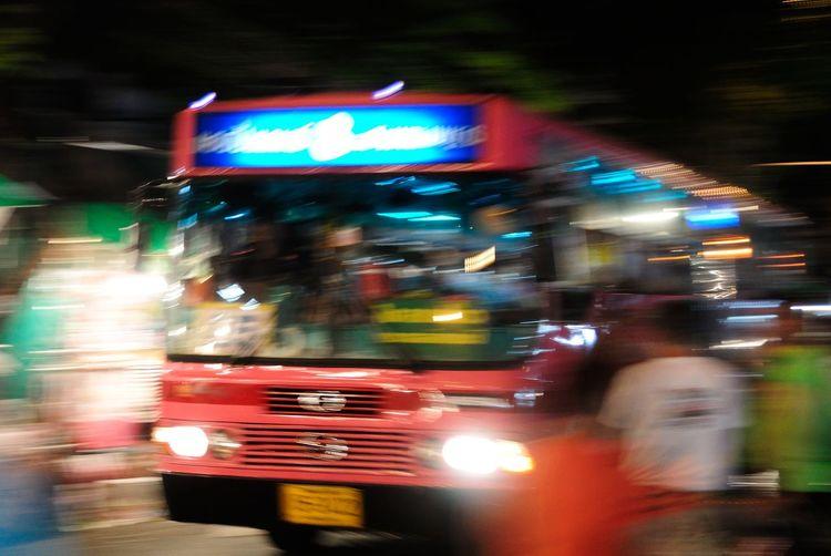 รถเมล์สาย 8 Bangkok BANGKOK DANGEROUS Blurred Motion Bus Car City City Life City Street Communication Illuminated Land Vehicle Long Exposure Mode Of Transport Motion Night On The Move Road Speed Street Text Traffic Transportation Travel