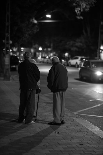 EyeEm Selects EyeEmNewHere Blackandwhite Black And White Friday Budapest Hungary City Outdoors Night Men People Old People This Is Masculinity This Is Queer The Street Photographer - 2018 EyeEm Awards HUAWEI Photo Award: After Dark A New Perspective On Life
