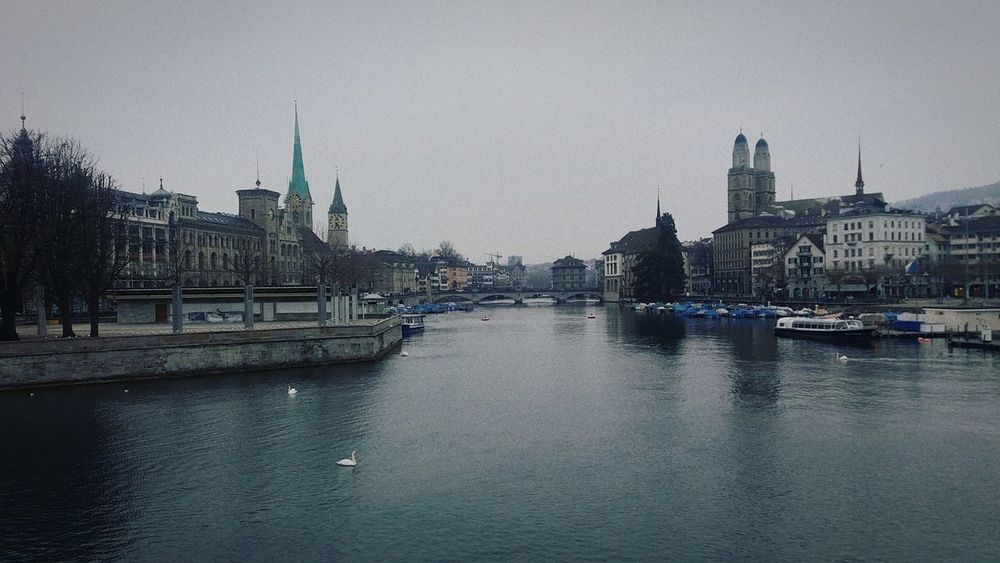 #zurich #City #river #water #cold #travel Built Structure