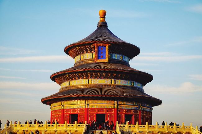 Architecture History Ancient Sky Built Structure Palace Travel Ancient Civilization Cloud - Sky Tourism Outdoors Building Exterior Royalty Day Dome Altar Warm Winter Light And Shadow Large Group Of People Cultures Place Of Worship Temple Of Heaven Park FUJIFILM X-T10 Beijing, China King - Royal Person