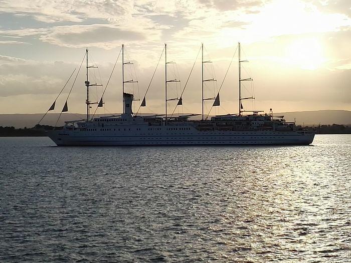 sailing ship  Sea And Sky Siracusa Sicily Sicily, Italy Italy Sicilia Italia Siracusa, Italy,Sicilia Ortigia Sailing Ship Tall Ship Water Nautical Vessel Sea Mast Sunset Harbor Sailboat Ship