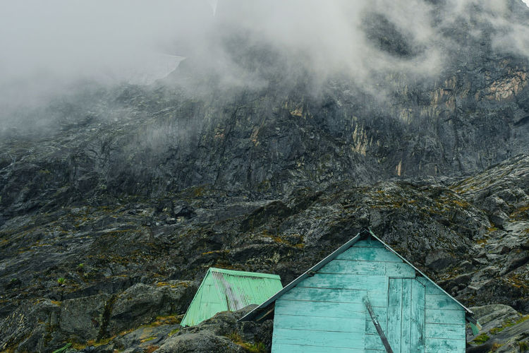 A cabin in the foggy mountains, rwenzori mountains national park, kasese district, uganda
