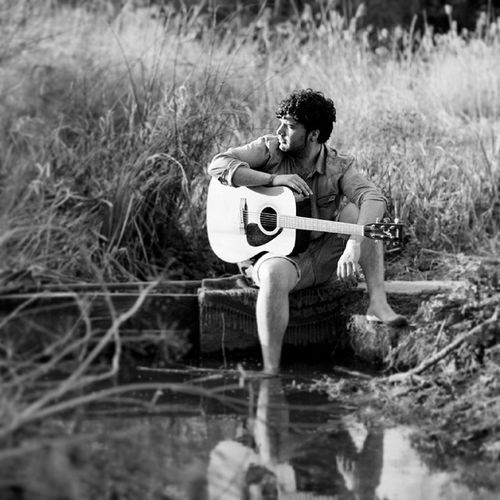 Model Blackandwhite Giuliorodriguez Giuliospice galiciacalidade guitar portrait river playing handsome wsa man youth young