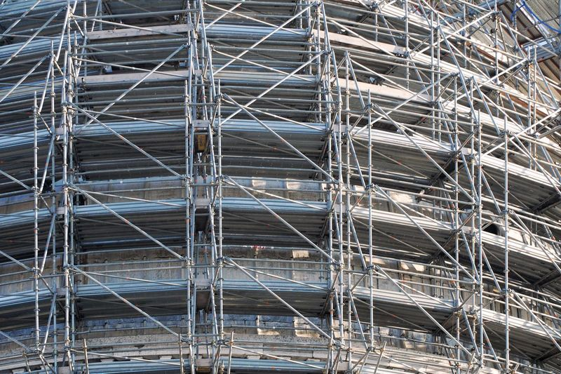 scaffolding Industry Building Site Construction Site Building Industry Scaffold Framework Hoarding Stage Backgrounds Full Frame Pattern Construction Site Architecture Close-up Scaffolding Construction Equipment Construction Industry Construction Frame Incomplete LINE Construction