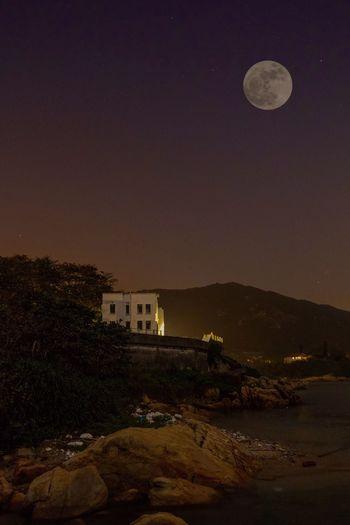 Supermoon 🌚 Supermoon Moon Night Nightphotography Photography Full Moon Sky Nature Scenics Mountain Seascape HongKong