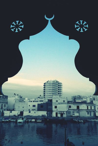 No People Sky Indoors  Architecture Day Sea Reflection Water EyeEm Best Edits Window Frame Bizerte Tunisia