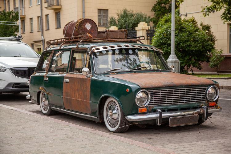Retro rusty car
