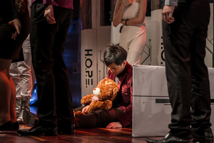 H.O.P.E - Ramadrama 8th Composition Death Doll Drama Exist Hope Humanıty Musical On Stage Organization People Portrait Ramadrama Real People Sitting Sleeping Stage Stageplay Still Life Stuffed Toy Theater Theatre Toy