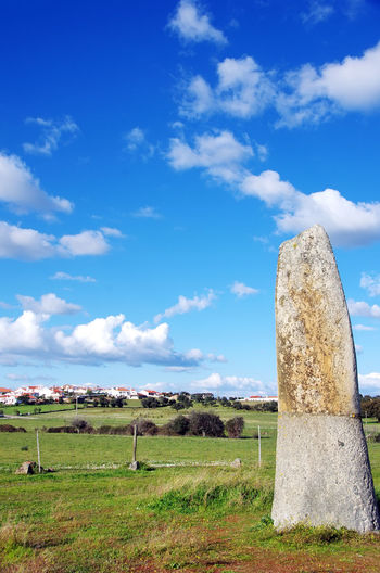menhir of Bulhoa, Monsaraz, Portugal Archeology Menhir ; Megalithic Landscape Monsaraz, Portugal Tranquility Travel Destinations